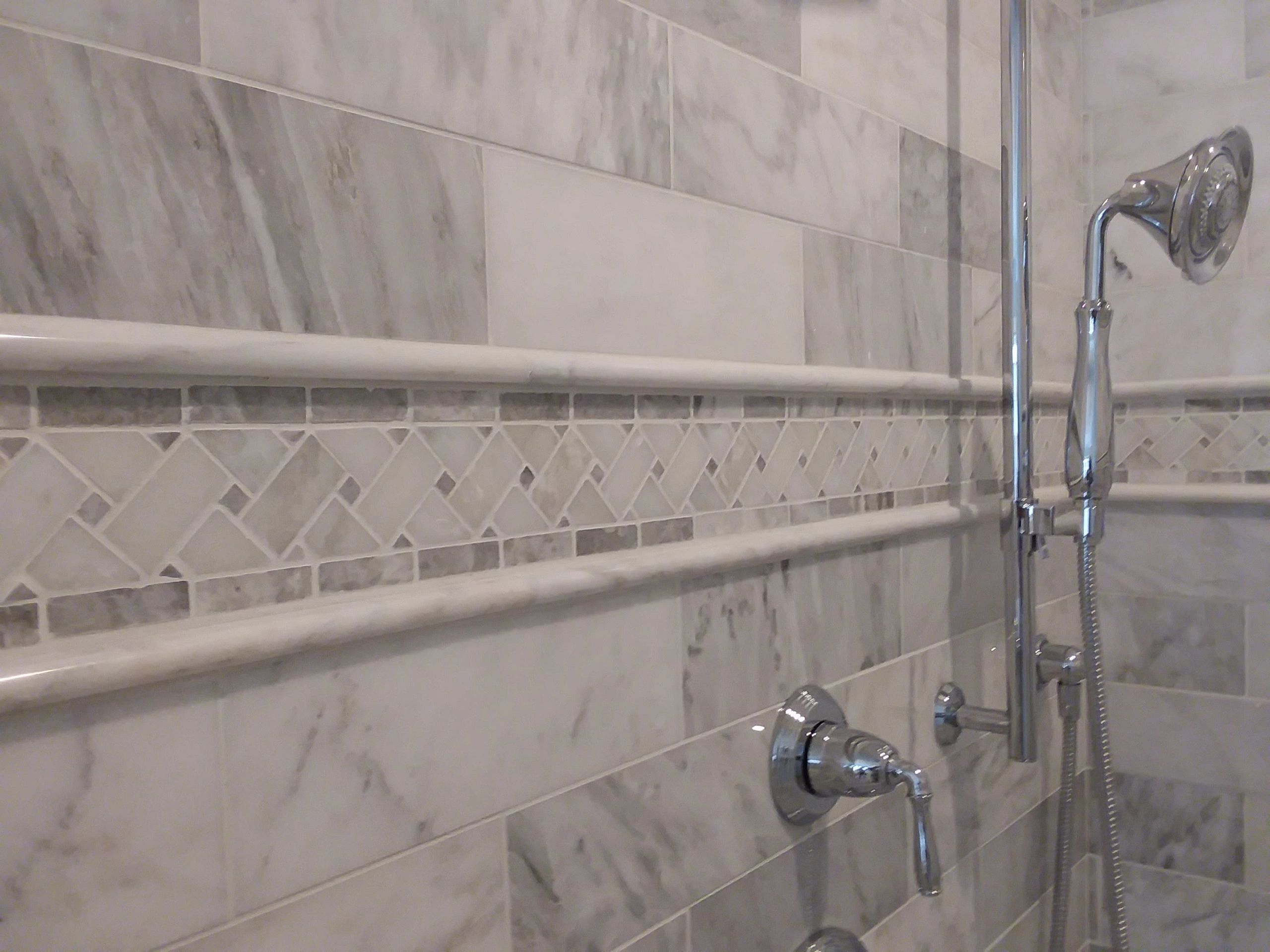 bathroom remodel,custom shower, tile installed, home improvement, Village Realty Maintenance, Paint