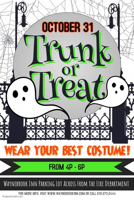 Trunk or treat, things to do in Honey Brook, Halloween