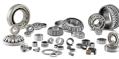 This is a selection of ball and roller bearings