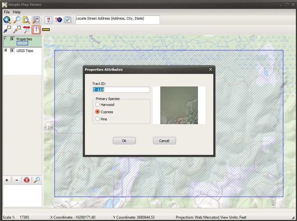 Simple Map View Application Window