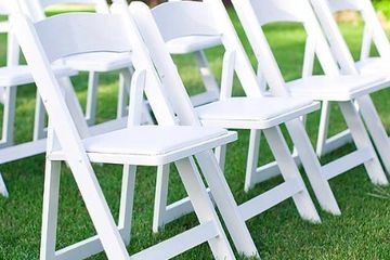 white padded chair rentals