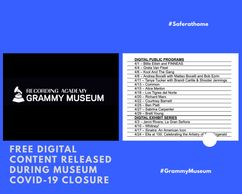 The Grammy Museum provides free digital content during Covid19