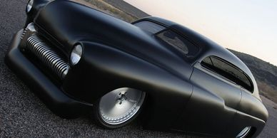 Fesler Built Project Led Sled 1949 Merc we built for Buddy Rice Indy 500 Winner.