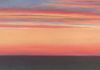 Atlantic Sunset, oil on canvas, 12x30 inches