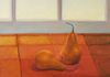 Two Bosc Pears, oil on canvas, 20x20 inches