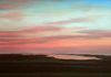 Sunset Over Katama MV, oil on canvas, 18x36 inches