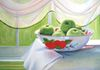 Green Apples in Vintage Tin Bowl, oil on canvas, 16x20 inches