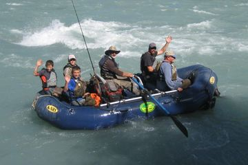 Half-day fishing and river rafting on the Alaska rivers of the upper copper river region of alaska