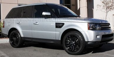Range Rover Wheel Powder Coating