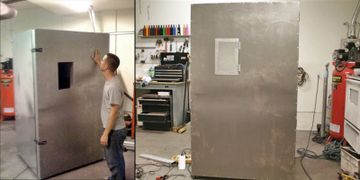 A year later we built a bigger oven and rented a tiny warehouse.