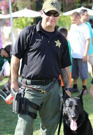 Tom Sweeny and K9 Boss