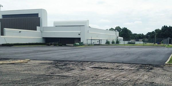 Industrial bus parking lot installed by CPAC - Asphalt Paving