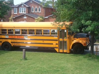 School bus used for charter services.