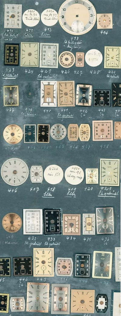 German watch dials from the 1930's, Picture: ©STOWA