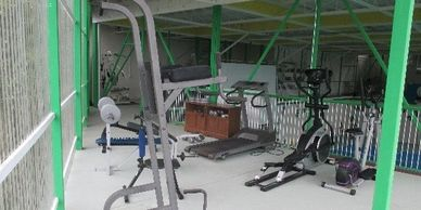 Exercise equipment in the gym at Vientos Bajos