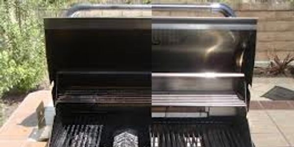 a dirty bbq grill compared to a clean bbq grill