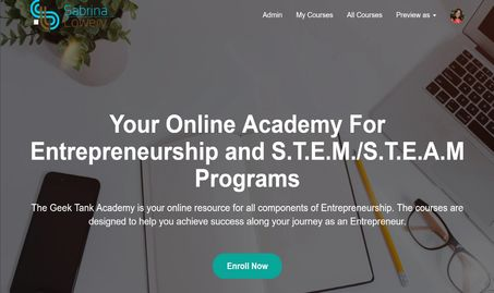 Register for online courses offered by The Geek Tank Academy