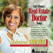Sabrina Lowery is the Qualifying Broker of Legacy Realty & Management LLC and a REALTOR for 16 yrs.