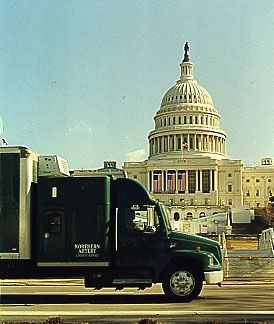 Northern Artery fine arts truck delivery capitol building biddeford maine