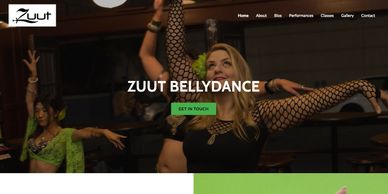 Professional web design for dancers.