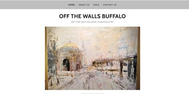 Art gallery and artist website design