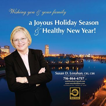 Holiday print ad designed for a real estate agent.