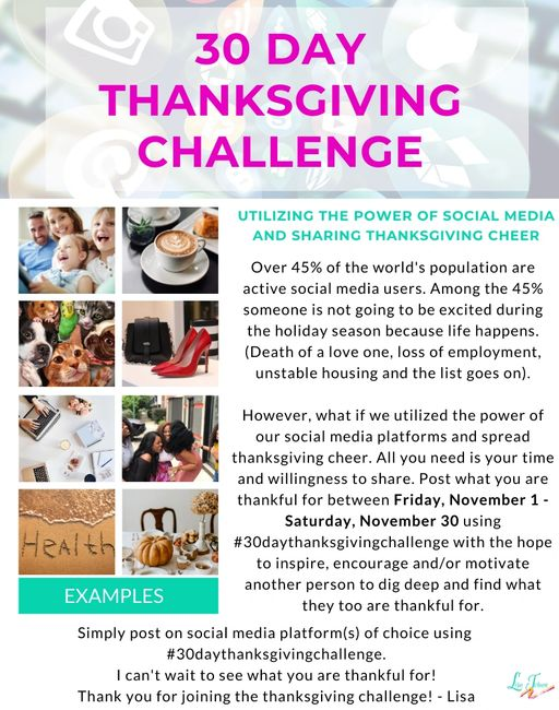 30 Day Thanksgiving Flyer