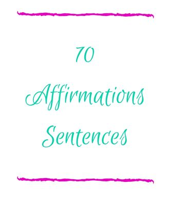 Cover image to download 70 affirming sentences.