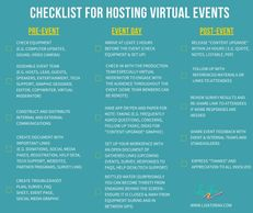 Checklist for Hosting Virtual Events created by Lisa Toban - www.lisatoban.com