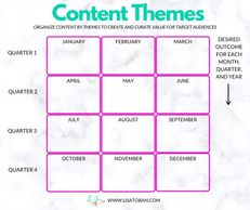 Content Themes by Lisa Toban - Connect at www.lisatoban.com