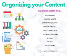 Organizing your Content  with Lisa Toban - www.lisatoban.com