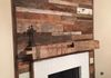 Barn Wood Accent Wall and Barn Beam Mantle