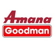 Amana Goodman logo for heating and air conditioning