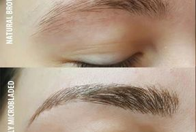Microblading eyebrows before and after in Pennsylvania.