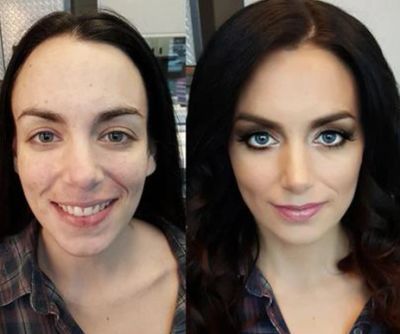 Before and after the best air brush makeup in PA and OH