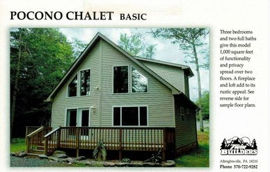 Poconos Pocono Chalet Chalets New Custom Mountains Homes Home Builder Builders Twin Twins Contractor
