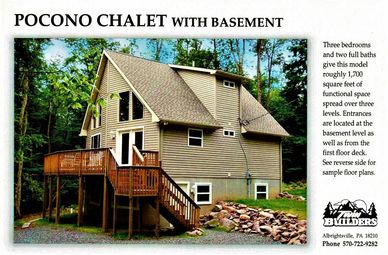 Pocono Poconos Chalet Basement New Home Homes Custom Builder Builders Chalets Mountains  Twin Twins