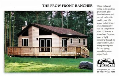 Prow Front Rancher Twin Twins Builder Builders Poconos Pocono Mountains Custom New Home Homes Build