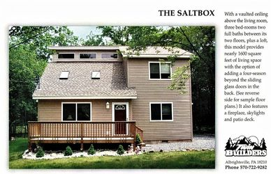 Saltbox Twin Twins Builder Builders New Home Construction Homes Poconos Pocono Mountains Custom