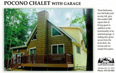 Pocono Chalet Poconos Builder Builders Home Homes Custom Garage Mountains Construction New House