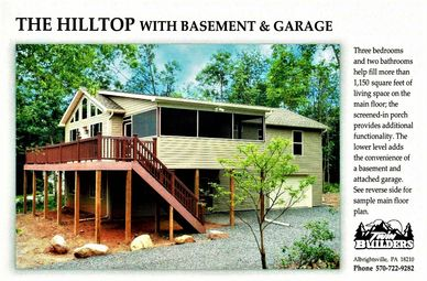 Hilltop Basement Garage Twin Twins Builder Builders New Home Homes Custom Construction Poconos
