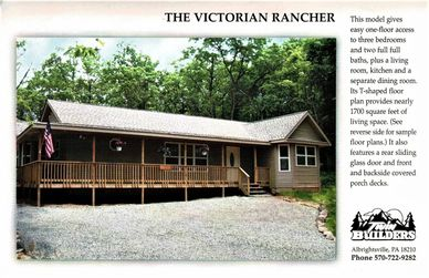 Victorian Rancher Twin Twins Builder Builders Poconos Pocono Mountains New Home Custom Contractors
