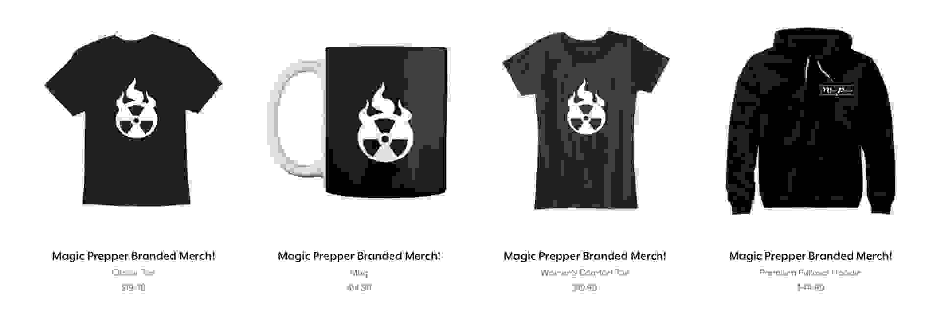 Magic Prepper merchandise for sale through Teespring available here!