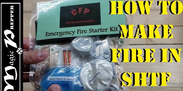 The Central Florida Prepper Emergency Fire Starter Kit is a great way to make fire in an emergency.