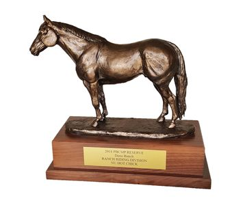 Quarter Horse Trophy, Sculpture, Statue