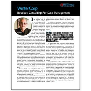 CIO Review, WinterCorp, Boutique Consulting for Data Management - article image