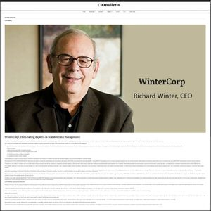 CIO Bulletin, WinterCorp Article - screen grab image