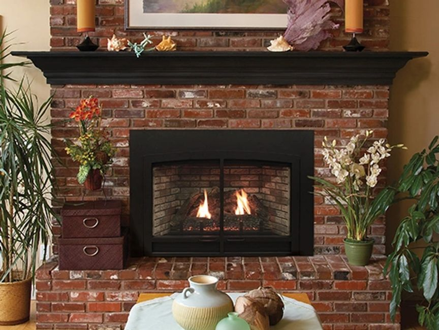 Gas Fireplace - Direct-Vent insert