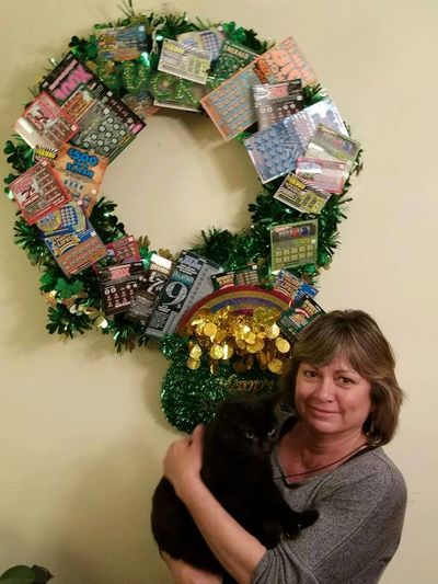Our St. Patrick's Lotto Wreath winner Congratulations Kelly Doran !!!!!