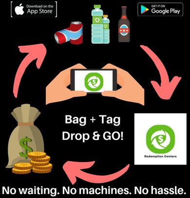 The first ever bottle & can recycling app that makes money